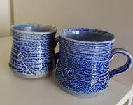Coffee mugs wood fired salt glazed