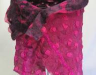 Wrap, Layered Silk and Wool