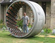 Ian Dowling, installation in a water pipe.