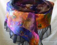 Silk Wrap with Trim
