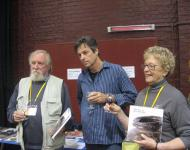 Owen Rye with Rowley Drydale and Janet Mansfield at the Book Launch